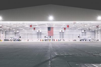 PSA hangar