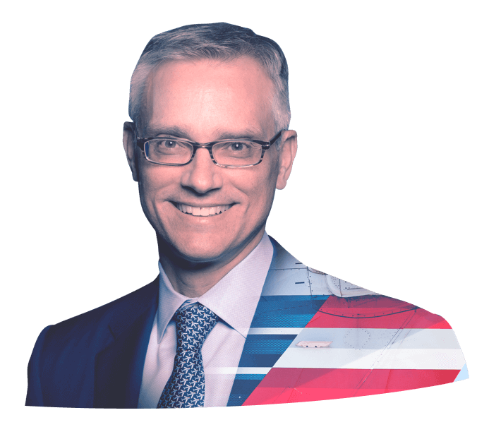 A portrait of Robert Isom, President of American Airlines